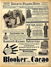 Rechenmaschine u. Kontroll- Kassen Cottage- Orgeln Thuringa Histor.Annoncen 1895