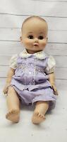 """1958 Madame Alexander Kathy Vinyl Squeaking Baby Doll 20"""" Sleepy Eye Jointed"""