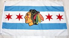 High Quality City of Chicago Blackhawks Large 3' x 5' Flag Limited Edition