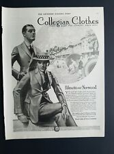 1920 men's Collegian clothes Palmetto and Norwood suits vintage fashion ad
