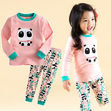 "Vaenait Baby Infant Toddler Kids Girls Clothes Pajama Set""Panda Bebe"" L(4-5T)"
