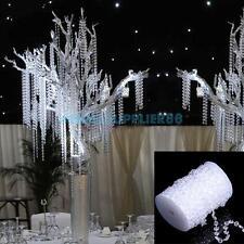 99 FT Garland Diamond Strand Acrylic Crystal Bead Beaded Wedding Decoration A