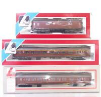 RARE LIMA 309141 309158 309335 HO - SWEDISH SJ BROWN LIVERY PASSENGER COACH SET