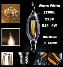6pcs E14 4WW LED Candle Light Bulbs Energy Saving Light Warm White Lamp Bulb