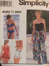 Rare OOP SIMPLICITY 9085 MS 1 & 2pc Swimsuits & Wrap Pants PATTERN 12-14-16 UC