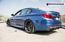 "19"" ROHANA RF2 MATTE BLACK CONCAVE WHEELS FOR BMW F10 528 535 550"