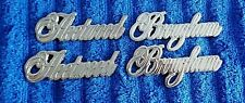 ALL CHROME 80-89 Cadillac Fleetwood Brougham Quarter Panel Emblems Ornaments