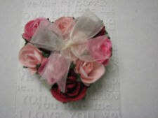 Natural Paper Rose Mini Flower Heart Magnet Party Wedding Gift Decor