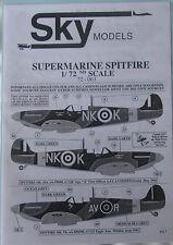 Skymodels 1/72 72063 Supermarine Spitfire DECAL set