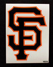 "SF Giants Orange Car window Decal Sticker 5""x3.5"" 2 Color  Black on Orange"