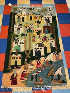 Woven Egyptian Kilim Wall Hanging, 40 in x 67 in. $155.More colors available.