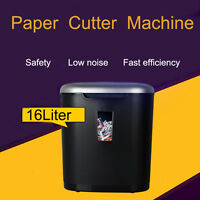Cross Cut 8Sheet Paper / Credit Card Shredder with 16L Pullout Bin