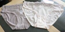 2 Pairs Marks and Spencer High Leg Knickers -Mink Mix - Size 8