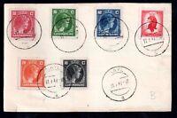 Luxembourg 1947 multi stamp Antwerp postcard Kayl CDS WS11534