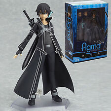 "Anime SAO Sword Art Online Kirigaya Kazuto Kirito PVC 6"" Figma Action Figure Toy"