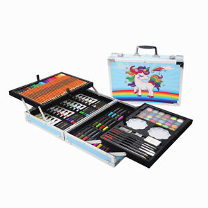 Professional Art Set Gift Box Sets for Adults Kids Paint Colouring Drawing Blue