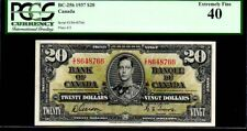 "CANADA BC-25b $20 1937 PCGS 40PQ ""KING GEORGE VI"" Bank of Canada"