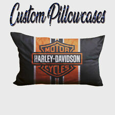 Harley Davidson Orange & Black Banner Pillowcases
