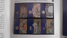 Royal Doulton Presentation STAMP Pk New Zealand*1992*6 Doulton Stamps* FREE Ship