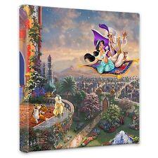 """(New) Thomas Kinkade Disney Dreams Collection """"Aladdin"""" 14 x 14 Wrap"""