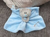 Tiny Tatty Teddy Me To You Blue Comforter Comfort Blanket Soft Baby Toy Bear