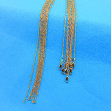 "5P 16-30"" Wholesale Jewelry 18K Gold Filled ""Water Wave"" Chain Necklace Pendants"