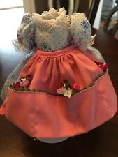 """Madame Alexander 8"""" Doll Vintage - Mary Mary Dress & Apron With Flowers"""