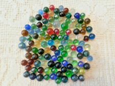 120 Solid Color Lot Marbles Transparents  Mixed Colors and Sizes
