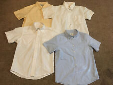 Flynn O'Hara Uniform Lot Of 4 Girls White Size 10 Short Sleeve Blouse