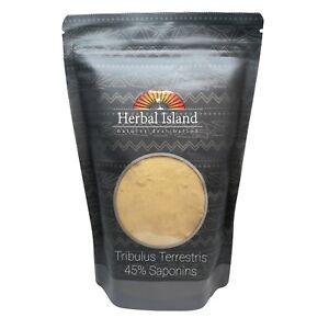 Tribulus Terrestris L Fruit Powder - 45% Saponins - 100% Pure - Free Shipping