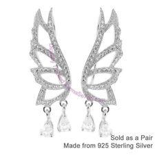 Sterling Silver & CZ Fairy Wings Climber Earrings - Ear Vines & Ear Climbers