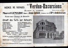 """VERDUN (55) AGENCE de VOYAGE / EXCURSIONS AUTOBUS """"A. LEROY / Marcel LEMAIRE"""""""