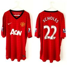 Manchester United Scholes Home Shirt 2012. XL. Nike. Red Adults Man Utd Top Only
