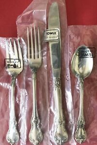 BRAND NEW Towle Old Master STERLING SILVER Flatware 4 Piece Place Setting SEALED