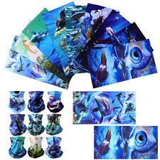 9pcs Headwear Shark Fish Face Motorcycle Sport Seamless Neck Tube Bandana