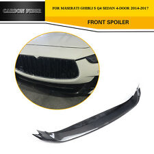 Carbon Fiber Front Bumper Chin Wing Lip Fit For Maserati Ghibli 4-Door 2014-2017