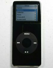 New listing Apple iPod Nano 1st Gen A1137 Black 1 Gb Tested and Working - Fast Shipping