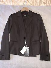 Auth. Women Suit VERSACE JC, Trousers & Jacket, Dark Brown, Size 46IT/32