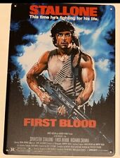 Rambo First Blood Stallone Movie Metal Poster Sign