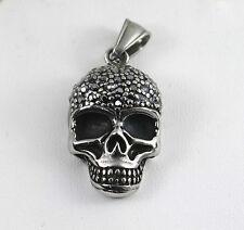Pendentif Tête De Mort  Acier ,Bikers Pendentif pour collier ,métal,gothique,