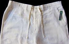 Men's CUBAVERA White LINEN + Drawstring Pants 1XB x 32 1XB/32 NEW NWT Wow!
