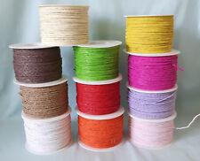 (0,095 €/m) 100 Meter Papierdraht 2 mm  Basteldraht  viele verschiedene Farben