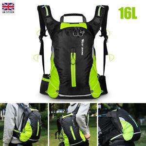 16L Cycling Bike Nylon Backpack Rucksack Reflective Breathable Travel Bag Pack