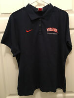Virginia UVA Cavaliers Women's Basketball Team Issued Nike Fit Dry Blue Polo XL