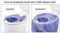 Ubbi Nappy Bin Disposable Plastic Liners, 25 Count