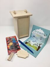 Pet Urn Memorial Cremation Burial Wood Biodegradable Made in Usa incl Placque