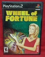 Wheel of Fortune -  PS2 Playstation 2 Game 1 Owner NEAR Mint Disc Complete