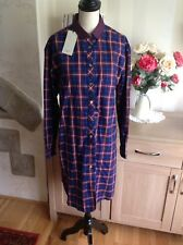 Paul Smith Check Tunic Removable Collar Dress Size-40 New With Tags £208 (T1)