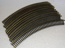 FLEISCHMANN ( 6024 ) LOT DE 20 GRANDS RAILS COURBES LAITON R 357,5    HO