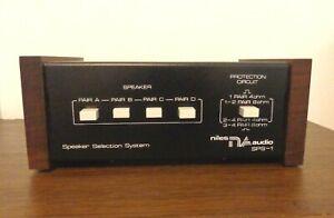 Vintage Niles Audio SPS-1 / SPS 1 Speaker Selection System  NO RESERVE